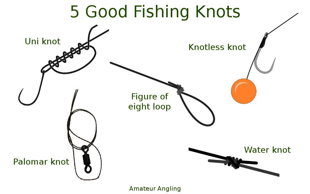 how to tie five good fishing knots amateur angling