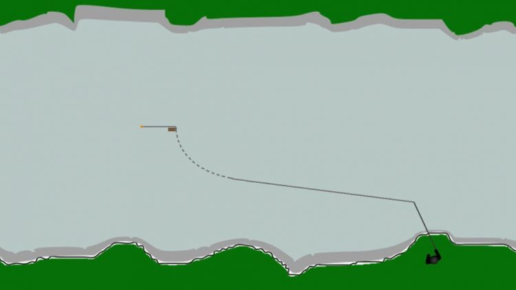 Feeder fishing bow in line