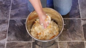 Making bread mash